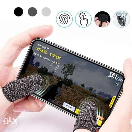 1 Pair L1 R1 Breathable Mobile Game Controller Finger Sleeve