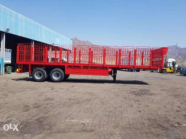 new trailers flat bed with 12R24.00 tyres and Bogie