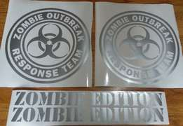Zombie outbreak decals - Suit jeep hummer FJ cruiser SUV 4x4 for sale  Johannesburg