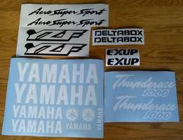 1996 Yamaha YZF 600R thunder ace and thunder cat decals sticker sets