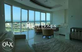 Full floor sea view three bedroom apartment for starting rent KD 1100