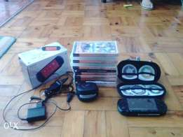 PSP street console and games great condition