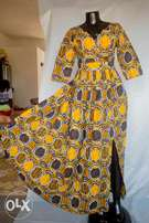 Excellence Ankara multi colored gown