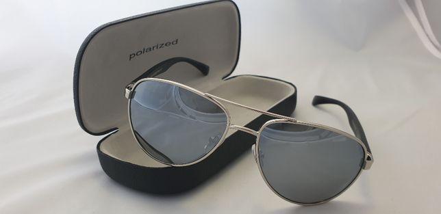 95533eb22cc34c Okulary POLARYZACYJNE do auta lustrzanki srebrne FILTR UV 11 Częstochowa -  image 1