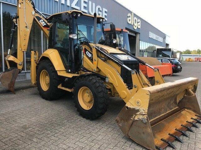 Caterpillar 428F2 4x4, Tieflöffel, Schaufel, neuwertig!!! - 2016