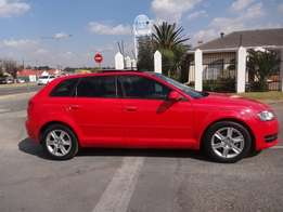 2012 AUD A3 1.4T Sportback Attraction 5DR ,99000kilo FOr R170,000