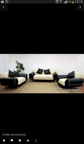 3 peace sofa set black bonded leather brand new Naval View - image 3