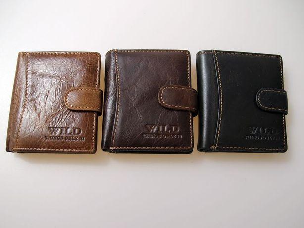6a657fe244243 Męski portfel portfele skórzany Wild mały Pleszew - image 1