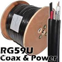 Coaxial cable/ Signal cable RG59 for cctv cameras 100meters