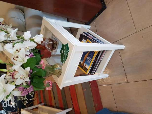 IKEA side table with glass 55x40x60