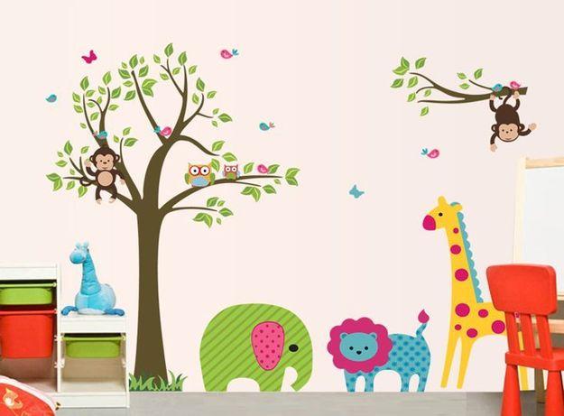 Naklejki Na Sciane Scienne Drzewo Zoo Zwierzeta Ws 0067 Lodz Baluty