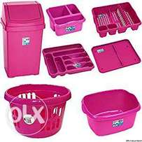 7 pcs kitchen basket and bin sets