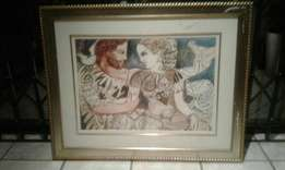 Gold Frame and Glass Art