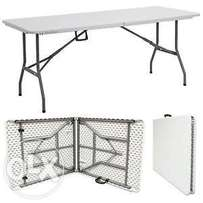 Fold up plastic trestle tables for sale at a bargain price