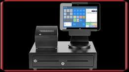 point of sale solution with 1 cctv camera ,and cash drawer,thermal