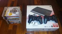 Sony super slim 500gb with 2pads and 9latest games