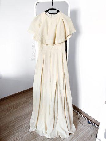 Długa sukienka asos suknia maxi XS 34 36 S elegancka