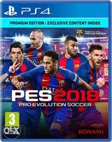 Pes18 CD for PlayStation 4