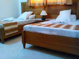 3 bedroom furnished partment on sale in bamburi, pool and play area