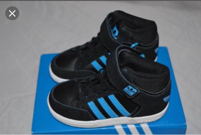 Buty Adidas originals za kostkę wyższe czarno granatowe r