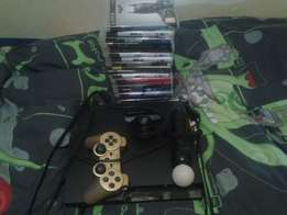 PlayStation3 with all my games and motion controller