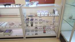 4 display counters with LED light hardly used 1500 each