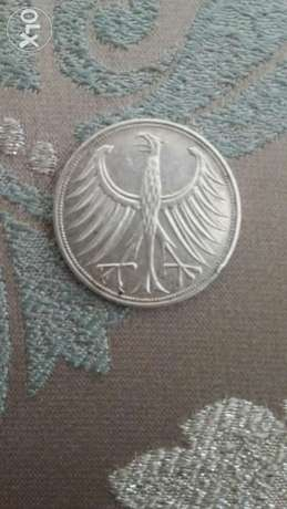 Germany Deutschland Silver Coin 5 Marks year 1967