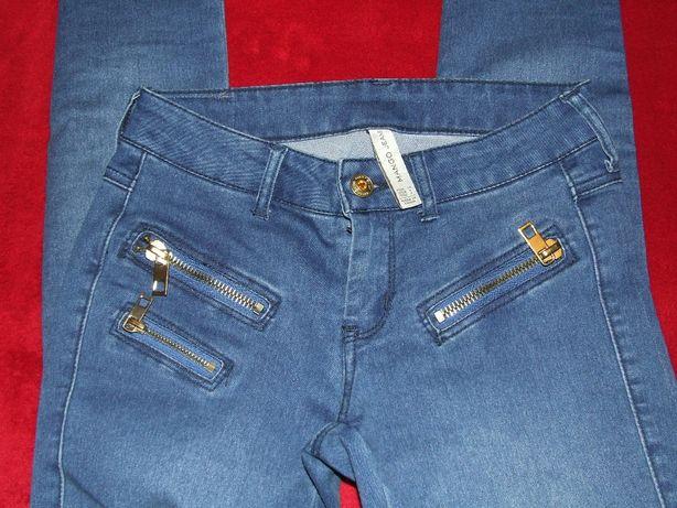 505c5660 MANGO spodnie obcisłe rurki pushup złote zamki rociągliwe XS - sexy ...