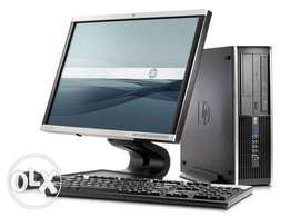 Complete Hp desktop computer core 2 duo with 2gb / 160gb n 17inch TFT