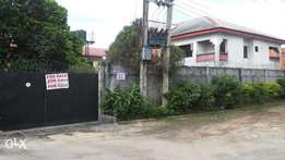 white Duplex Building in a one and half plot of land for sell