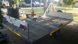 3 Quad Trailer 2 Quads 1 Pw80 and XR200 project and some riding gear