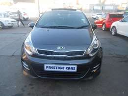 kia rio 1.6i 2015 model grey colour with sunroof and leather seats
