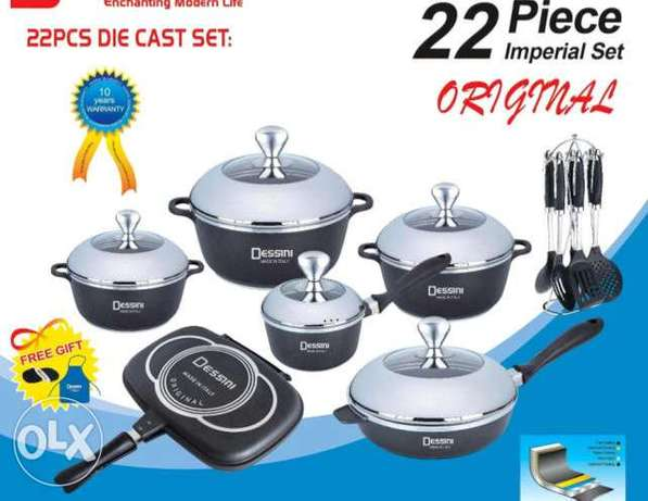 22pcs Dessini Heavy Duty Non-Stick Cookware set Nairobi CBD - image 1