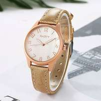 Women's Gold Leather Watch