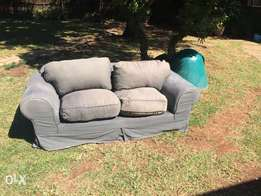 2x two seater couches