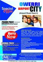 HOT PRPMO: OWERRI Airport City Estate mow selling