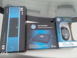 Hp External dvd writer /Mini Keyboard/Optical Mouse