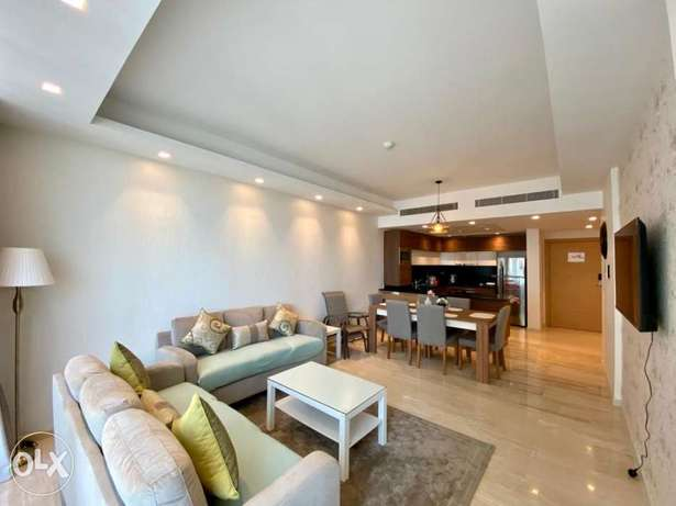 Brand new modern design 2BR Apartment for rent Dilmunia island/Balcony