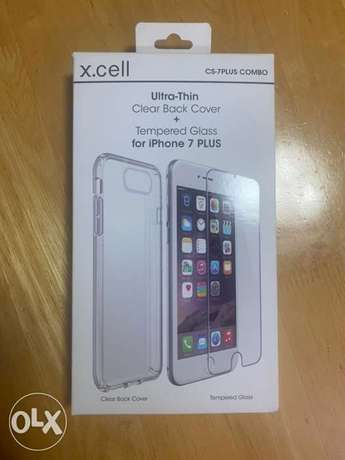 iPhone 7 plus Case and Tempered Glass