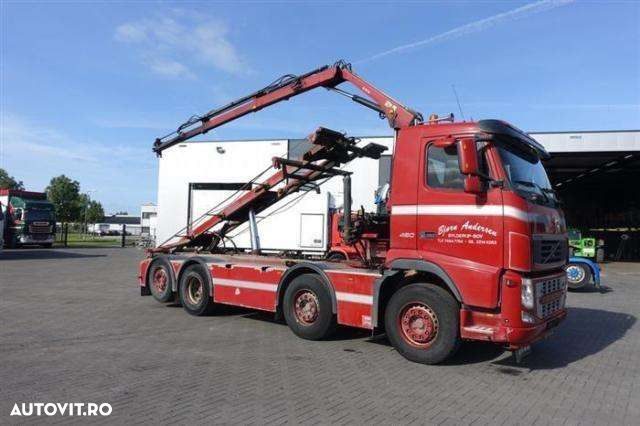 Volvo FH460 8X2 WITH HIAB CABLE + HIAB 077 B 2 CL EURO 1