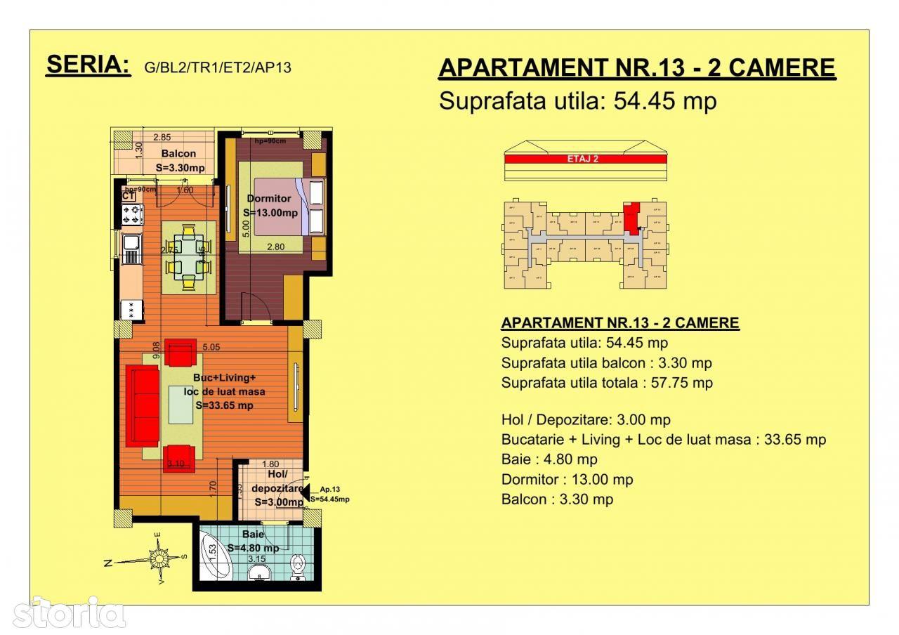 Apartament de vanzare, Brașov (judet), Strada Ioan Ursu - Foto 1