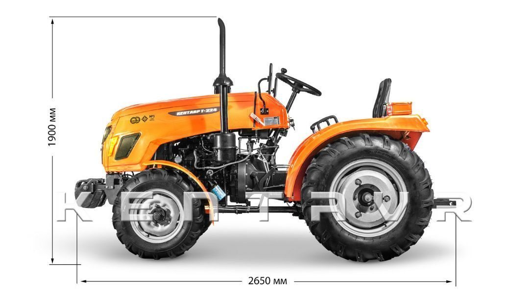 Tractor KENTAVR T-220, 22CP, 2x4WD - 4