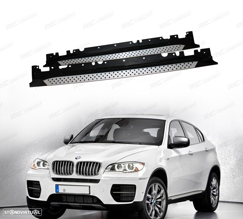 estribos laterais pack m bmw x6 e71 08 346 eur standvirtual. Black Bedroom Furniture Sets. Home Design Ideas