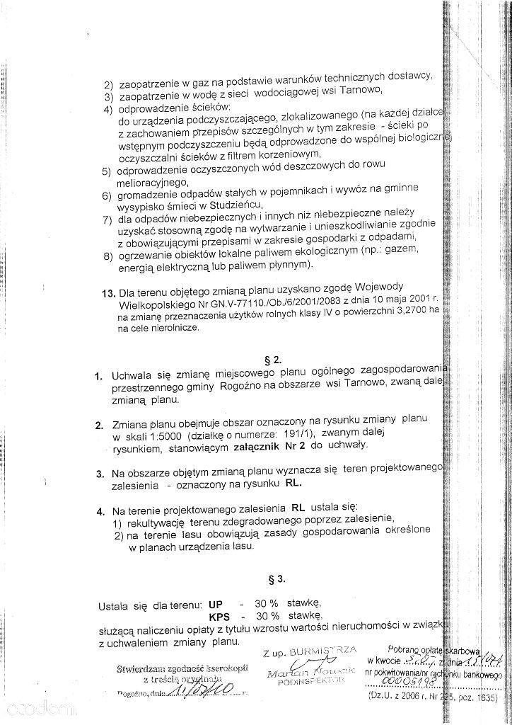 Działka na sprzedaż, Rogoźno, obornicki, wielkopolskie - Foto 15