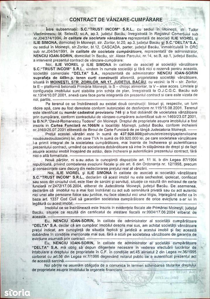 Teren de Vanzare, Bacău (judet), Moineşti - Foto 2