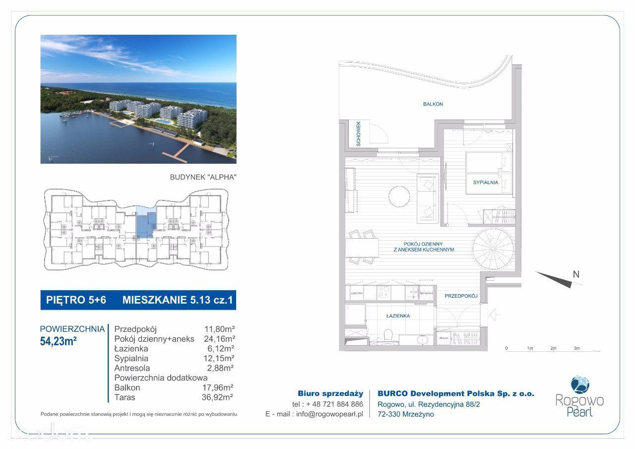 Mieszkanie na sprzedaż, Rogowo, gryficki, zachodniopomorskie - Foto 1