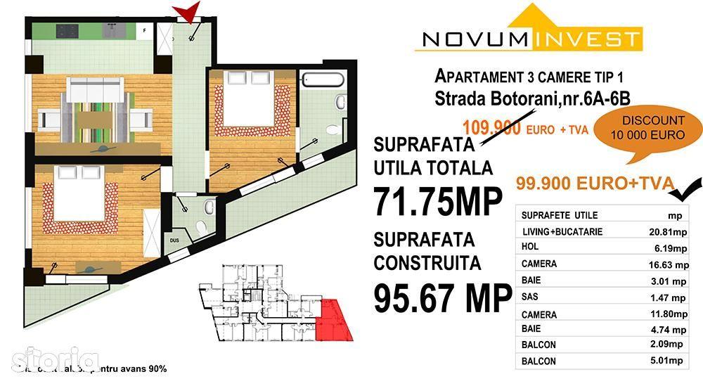 Apartament de vanzare, București (judet), Aleea Botorani - Foto 11