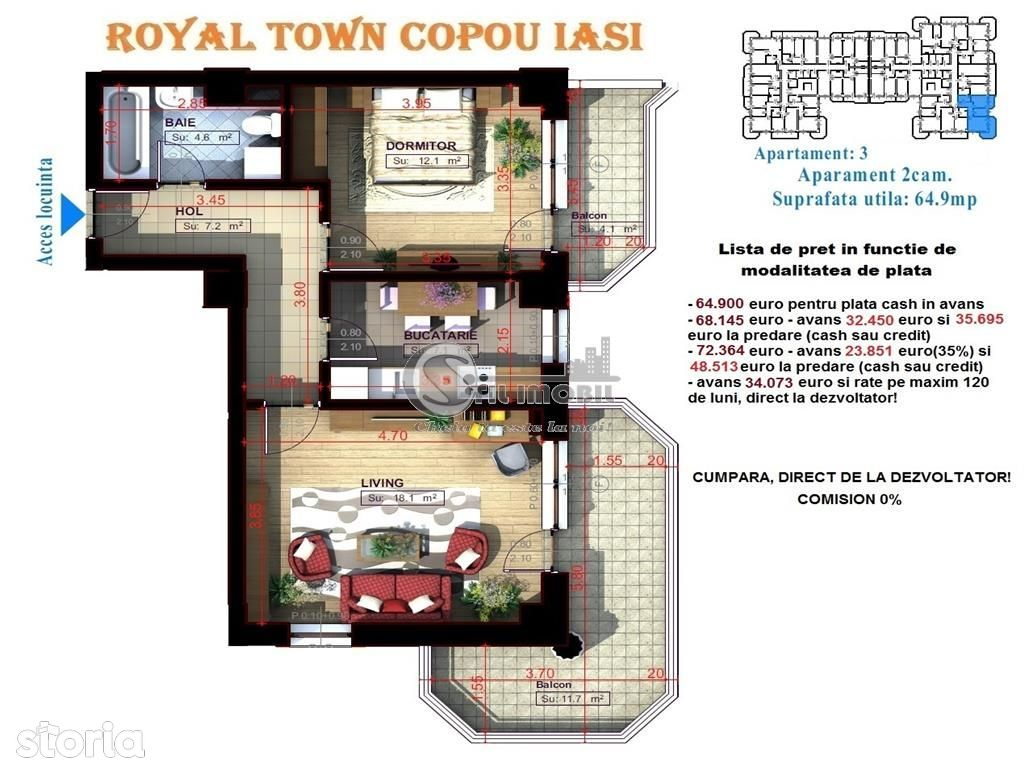Apartament de vanzare, Iași (judet), Carol 1 - Foto 15