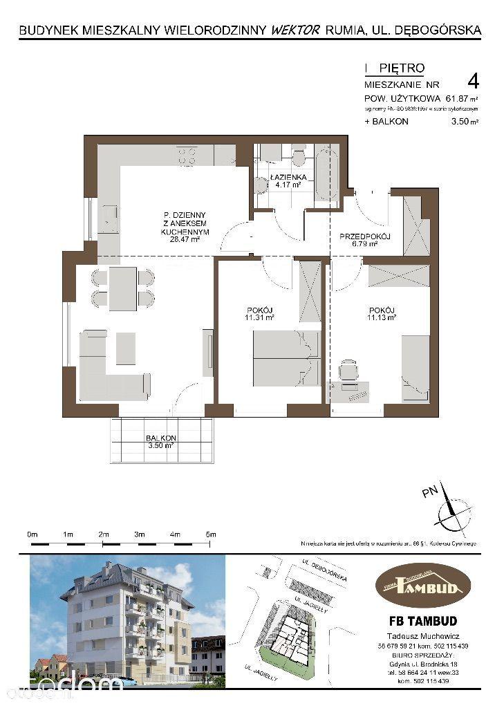 Mieszkanie na sprzedaż, Rumia, wejherowski, pomorskie - Foto 1012