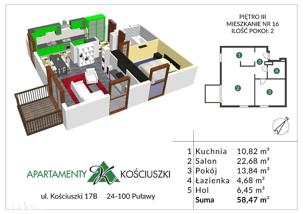 Mieszkanie na sprzedaż, Puławy, puławski, lubelskie - Foto 1016